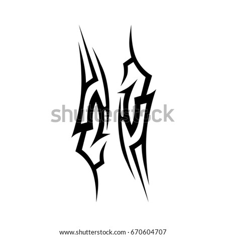Tattoo Tribal Vector Design Simple Logo Stock Vector Royalty Free