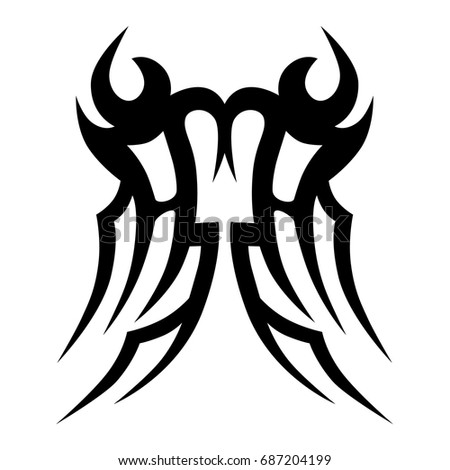 ecd29d86e9ef3 Tattoo Tribal Vector Design Simple Logo Stock Vector (Royalty Free ...