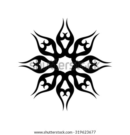 Tattoo Tribal Vector Design Sketch Simple Stock Vector Royalty Free