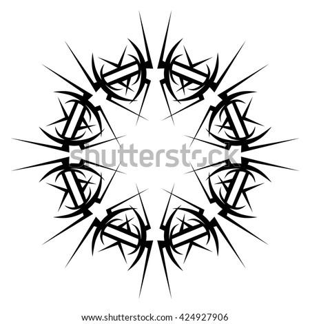 Tattoo Tribal Vector Design Sketch Single Stock Vector Royalty Free