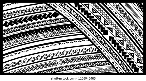 TATTOO tribal vector designs. Maori style tattoo design for chest and sleeve areas.
