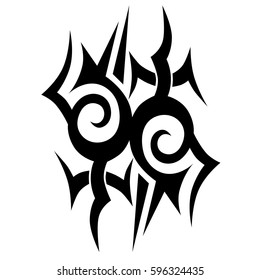 78620b511 Tattoo tribal vector designs sketch. Simple logo. Designer isolated element  for ideas decorating the