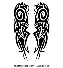 tattoo tribal vector pattern arm man - design flame - maori sleeve