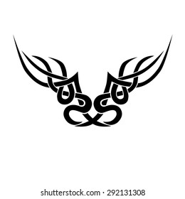 Tattoo Tribal Lower Back Vector Design Stock Vector Royalty Free