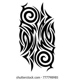 tattoo vector tribal pattern, abstract tattoos art designs ideas – tribal tattoo pattern vector illustration