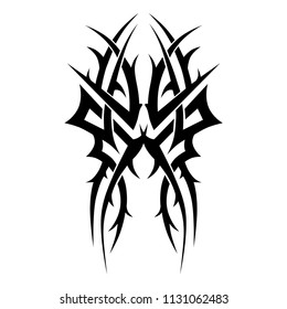 tattoos art thorns, swirl designs – tribal tattoo pattern vector illustration