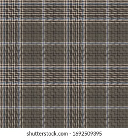 Taupe Ground Twill Plaid with Brown, Blue, & Beige Seamless Vector Illustration