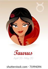 Taurus astrological sign vector illustration