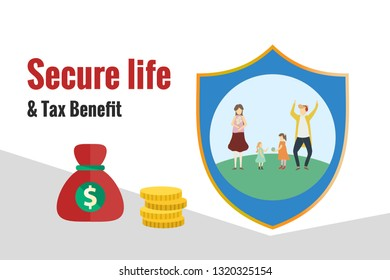 Tax benefit, secure life, financial ads design
