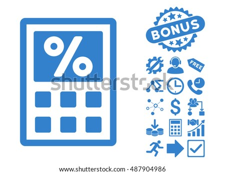tax calculator pictograph bonus pictogram vector のベクター画像素材