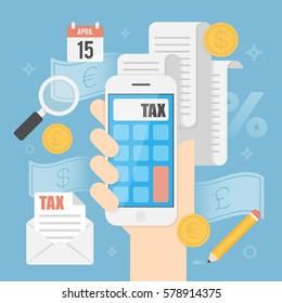 Tax Concept. Business Concept Illustration.