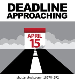 Tax day deadline approaching design EPS 10 vector, grouped for easy editing. No open shapes or paths.
