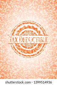 Tax Deductible abstract orange mosaic emblem