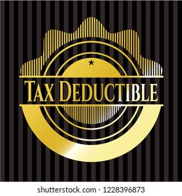 Tax Deductible gold badge