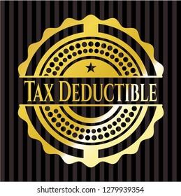 Tax Deductible gold emblem or badge