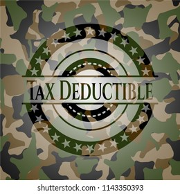 Tax Deductible on camouflage pattern