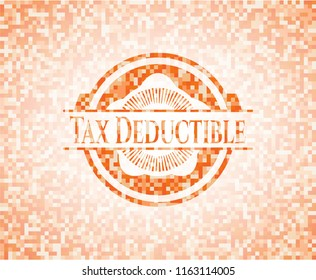 Tax Deductible orange mosaic emblem