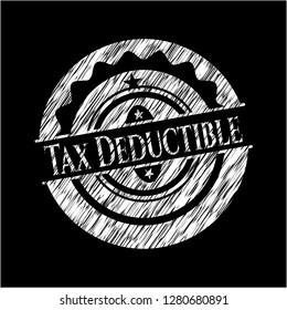 Tax Deductible written on a chalkboard