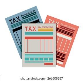 Tax design over white background, vector illustration