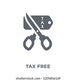 Tax free icon. Tax free design concept from Delivery and logistic collection. Simple element vector illustration on white background.