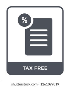 tax free icon vector on white background, tax free trendy filled icons from Delivery and logistic collection, tax free simple element illustration