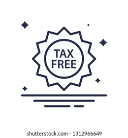 Tax Free Vector Icon