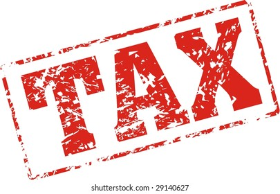 tax Grungy ink stamp, vector format very easy to edit