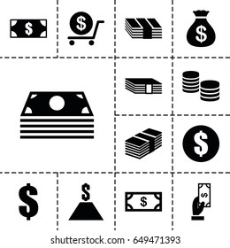 Tax icon. set of 13 filled tax icons such as money, money sack, payment, dollar
