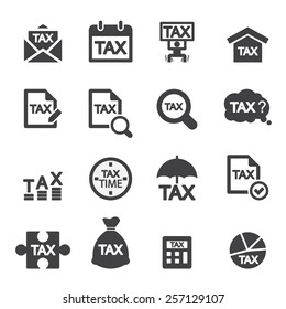 tax icon set