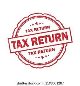 Tax return grunge Stamp on white background,Thai design.Vector