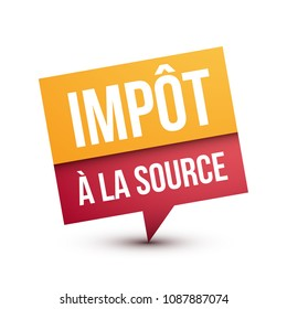 Tax Withheld at Source in French
