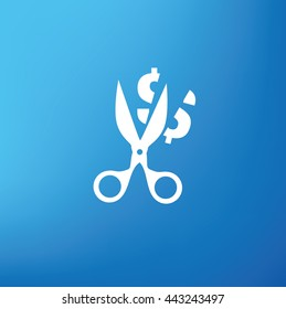 Tax,cut design on blue background,vector