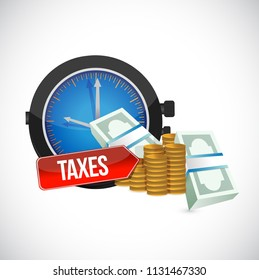 taxes concept. bussiness concept illustration. over a white background