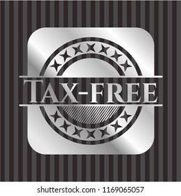 Tax-free silvery emblem