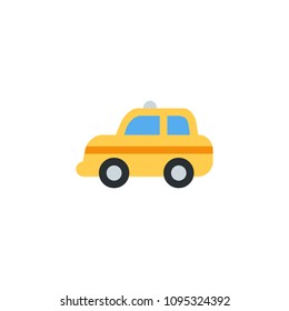 Taxi automobile car side vector illustration flat icon symbol cartoon style