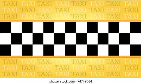 Taxi business card with a place for your text, vector illustration