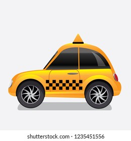 Taxi cab icon. Eps10 vector illustration.