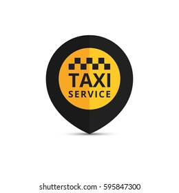 Taxi, cab logo, design. Taxi point graphic icon. Vector illustration.