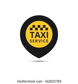 Taxi, cab vector logo, design. Taxi point graphic icon.