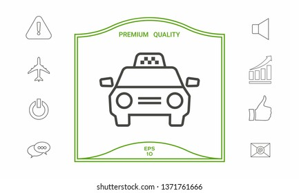 Taxi Car icon. Graphic elements for your design