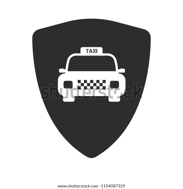 taxi car and shield icon. designed for taxi service