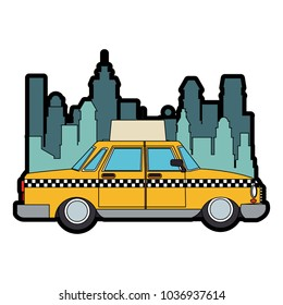 Taxi at the city