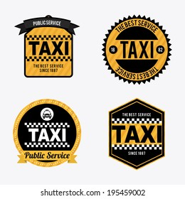 Taxi design over white background, vector illustration