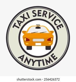 Taxi design over white background, vector illustration.