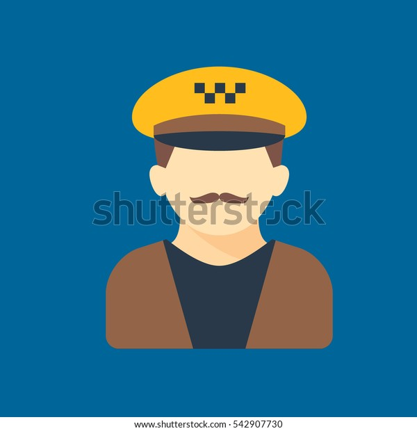taxi driver icon flat disign
