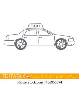 Taxi. Editable vector icon.