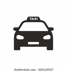 Taxi icon. Car. Vector icon isolated on white background.