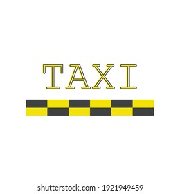 Taxi icon design template vector isolated illustration. Vector illustration