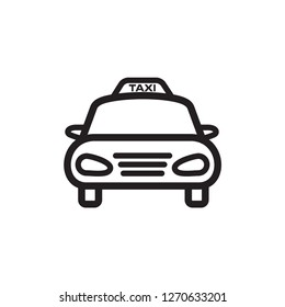 Taxi icon flat trendy