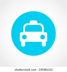 Taxi Icon Isolated on White Background